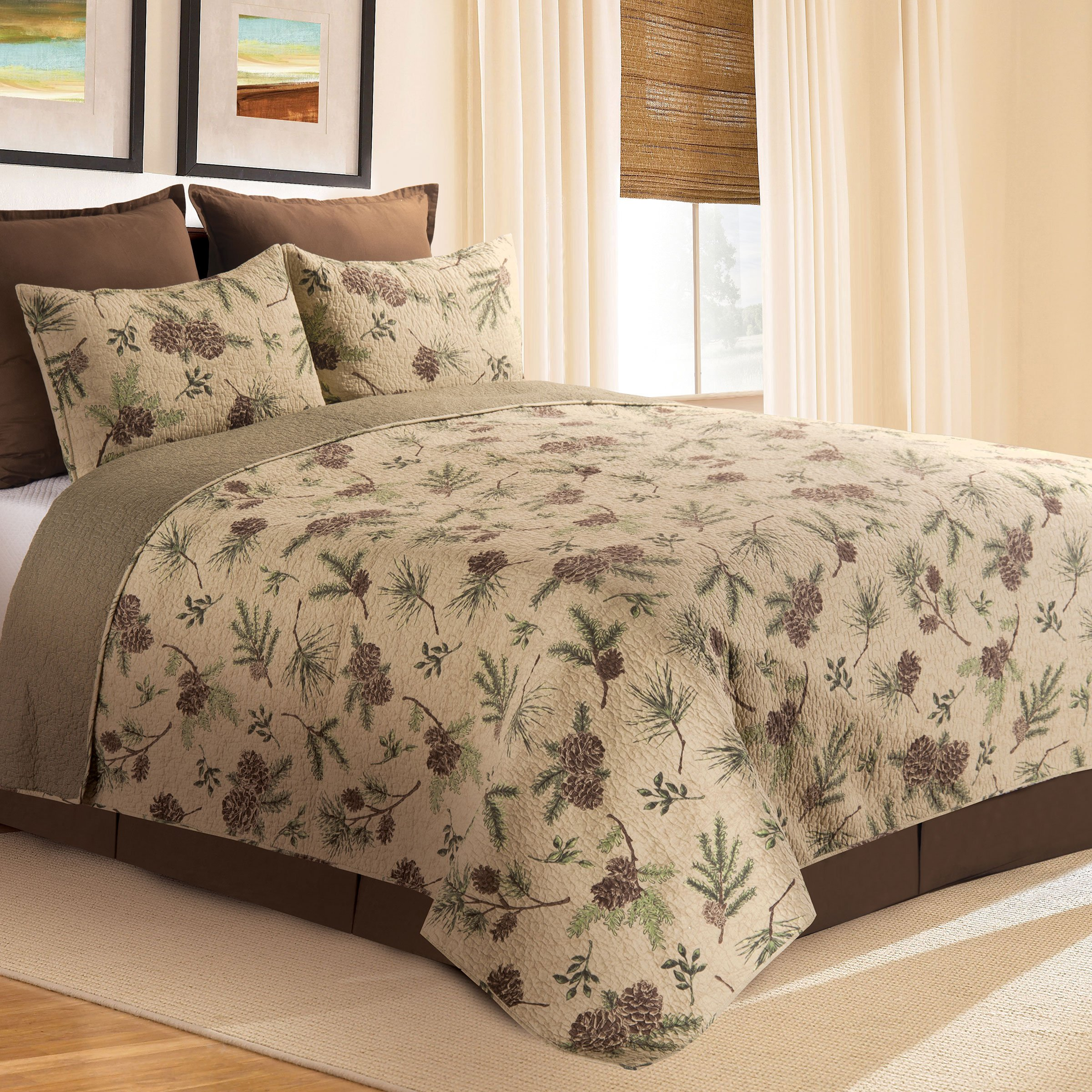 C&F Home Woodland Retreat Twin 2 Piece Quilt Set Twin 2 Piece Set Tan