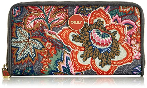 Oilily JF Travel Wallet, Cartera para Mujer, Grau (Dove 904), 20x10x3