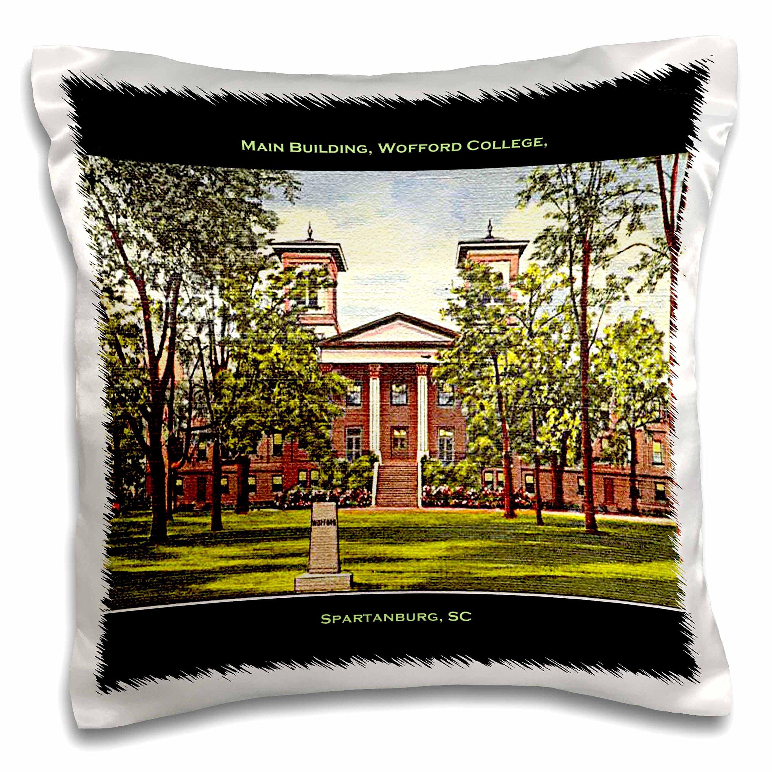 3D Rose Main Building-Wofford College-Spartanburg-Sc Design Pillowcase, 16'' x 16''