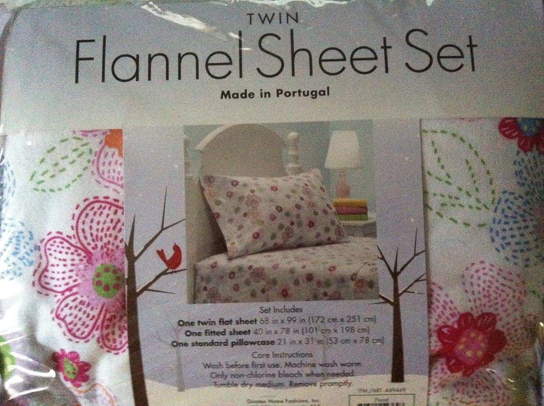 Amazon Com Children S Twin Flannel Sheet Set Floral Kitchen Dining