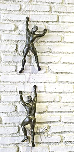 Amazon.com: 2 Wall Sculptures Climber Climbing Man wall climber wall ...