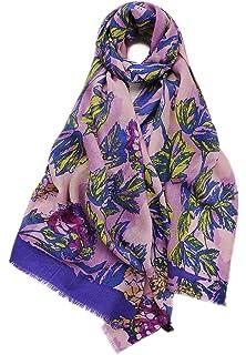 Prettystern - 185cm 100% Laine pashmina écharpe avec motif floral imprimé 5ac34fd0c0c