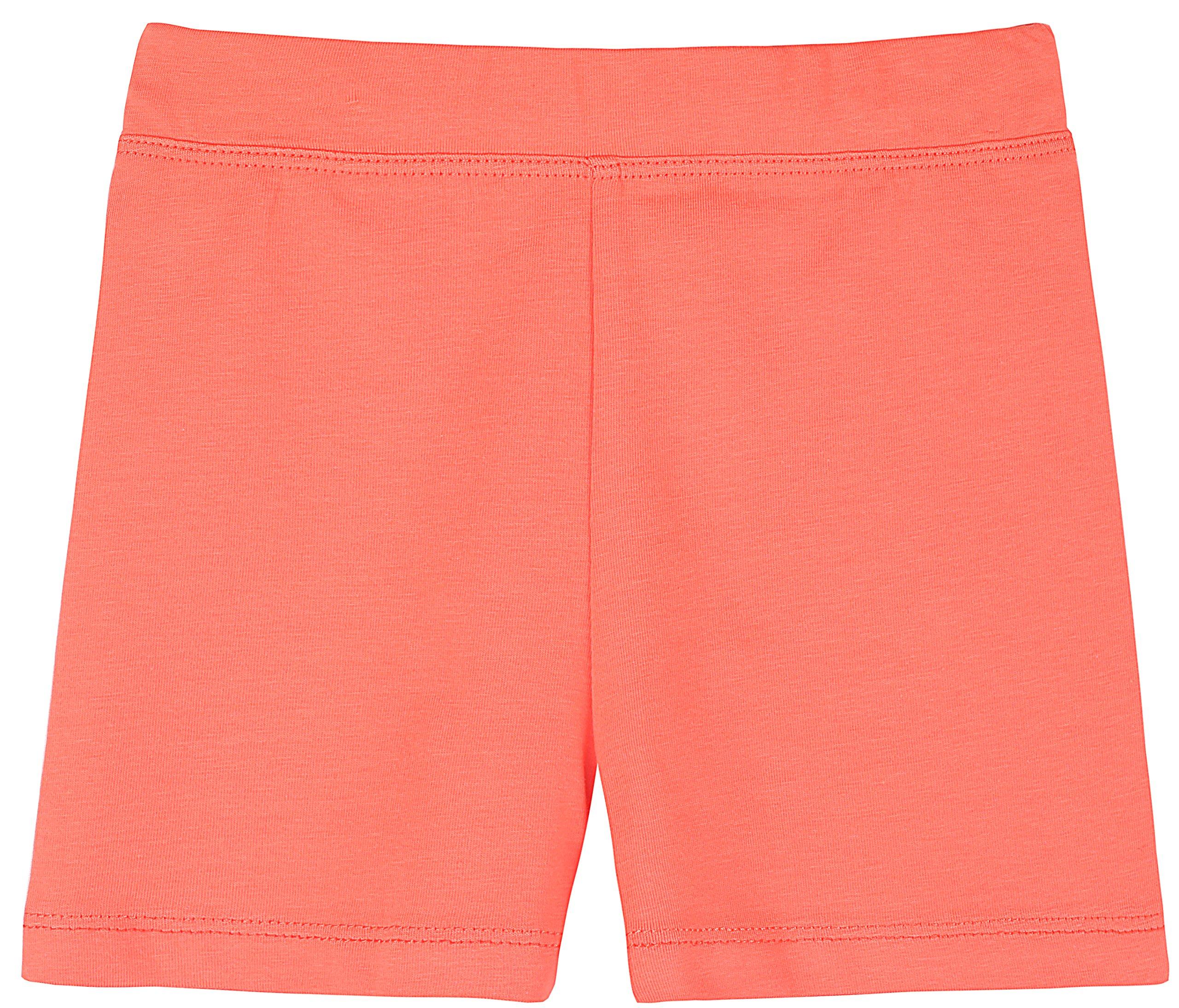Lovetti Girls' Basic Solid Soft Dance Short for Gymnastics Or Under Skirts 3T Orange