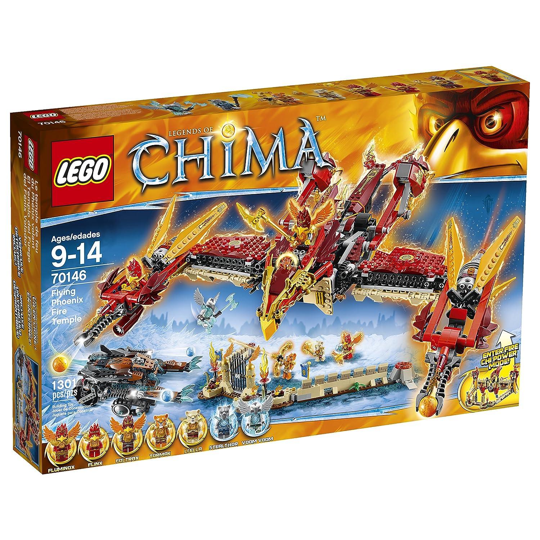 Amazon Lego Chima 70146 Flying Phoenix Fire Temple Building Toy