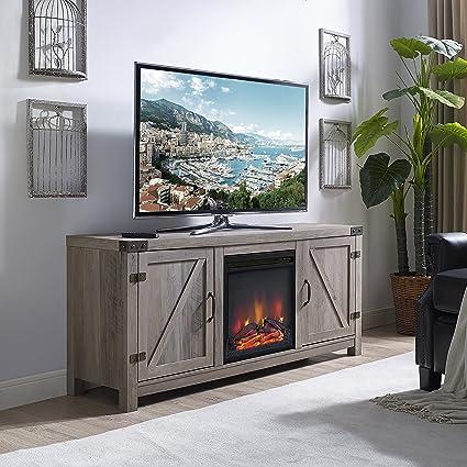 Amazon Com Home Accent Furnishings New 58 Inch Barn Door Fireplace