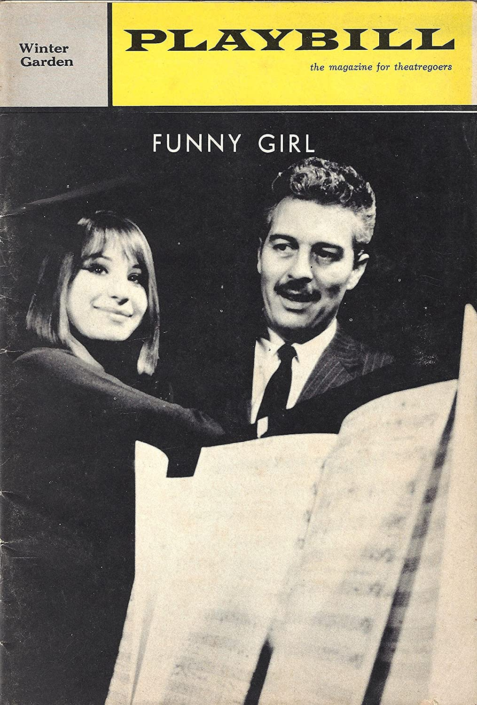 Barbra Streisand'FUNNY GIRL' Sydney Chaplin/Kay Medford/Jule Styne 1965 Broadway Playbill