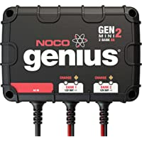 NOCO Genius GENM2 8 Amp 2-Bank On-Board Battery Charger,Black