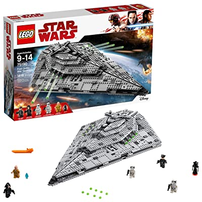 LEGO Star Wars Episode VIII First Order Star Destroyer 75190 Building Kit (1416 Piece): Toys & Games