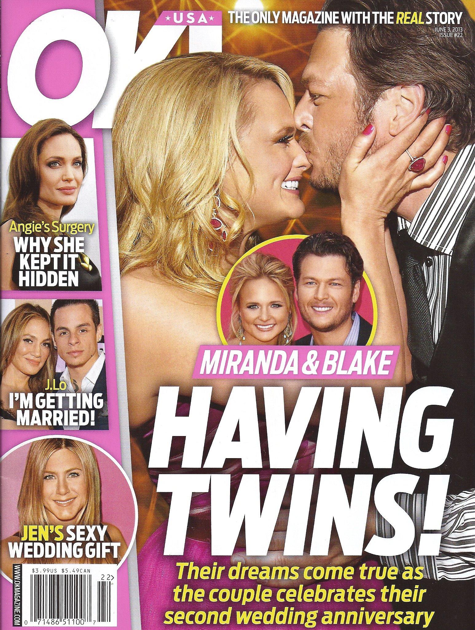 Miranda Lambert, Blake Shelton, Angelina Jolie, Jennifer Lopez Aniston - June 3, 2013 OK! Magazine ebook