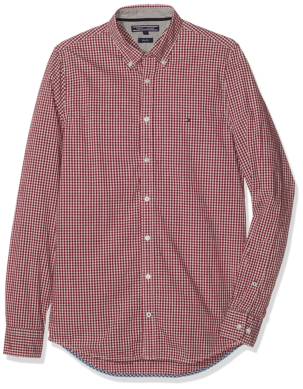 Tommy Hilfiger Mini Gingham SF2, Camisa para Hombre