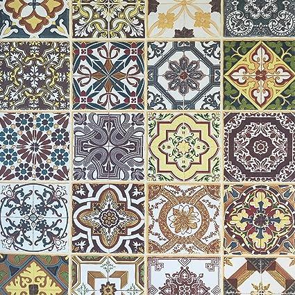 Slavyanski Vinyl Wallpaper Textured Faux Tiles Mosaic Modern