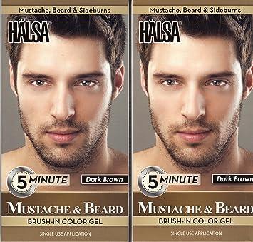 Amazon.com : Halsa Men Mustache & Beard Facial Hair Color Gel 5 ...