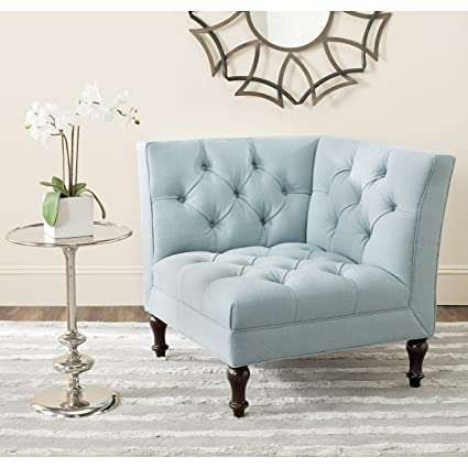 Safavieh MCR4643B Mercer Collection Jack Corner Chair, Sky Blue