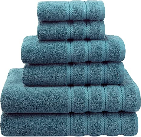Blue 23A 2 PACK Hotel Style Turkish Cotton  Hand Towel