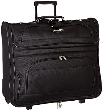 c057e4857 Amazon.com | Travel Select Amsterdam Rolling Garment Bag Wheeled Luggage  Case, Black (23-Inch) | Garment Bags