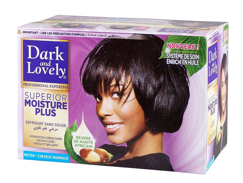 Dark & Lovely Kit Défrisant sans Soude au Beurre de Karité Africain, Soin Enrichi en Huile - pour Cheveux Normaux 105279319