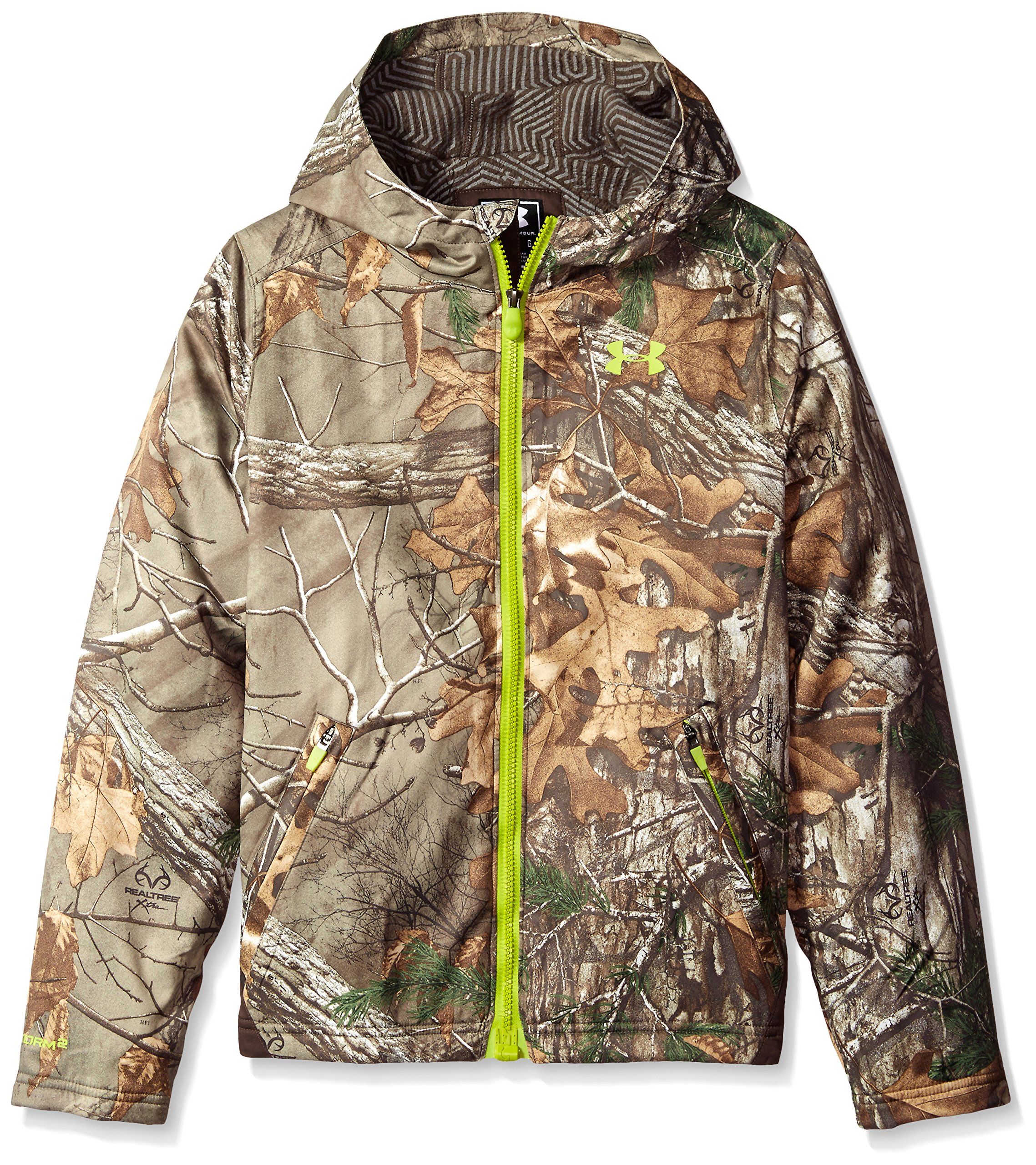 Under Armour Youth ColdGear Infrared Scent Control Barrier Hoody Realtree Ap Xtra/Velocity XL by Under Armour