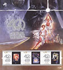 STAR WARS 40th Anniversary Collectible Postage Stamps Souvenir Sheet Portugal