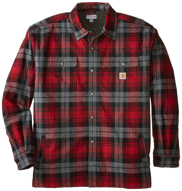 (カーハート) Carharttシャツジャケット ビッグトール ハバードシェルパ裏地付き メンズ B01FK0OJJM XL Dark Crimson Dark Crimson XL