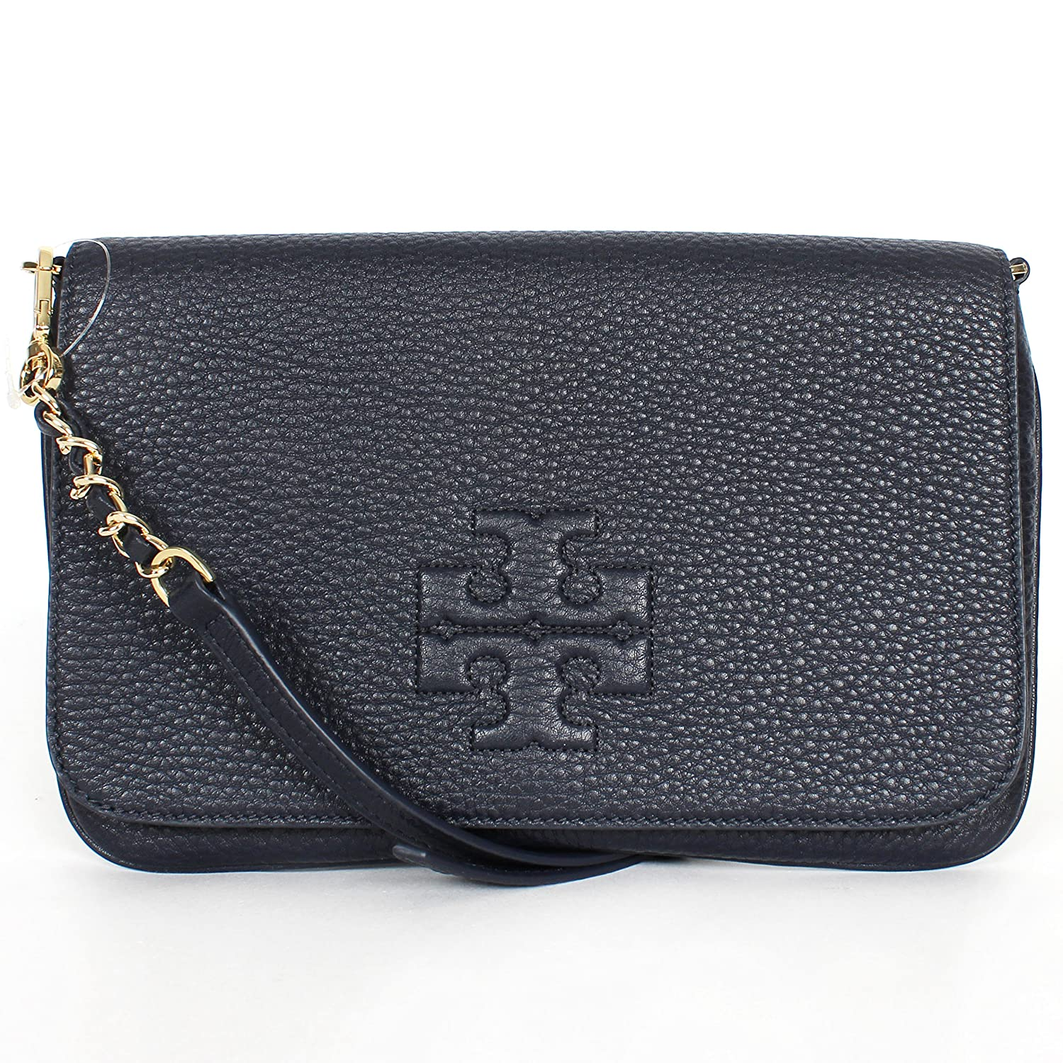 Tory Burch Thea Foldover Clutch Navy