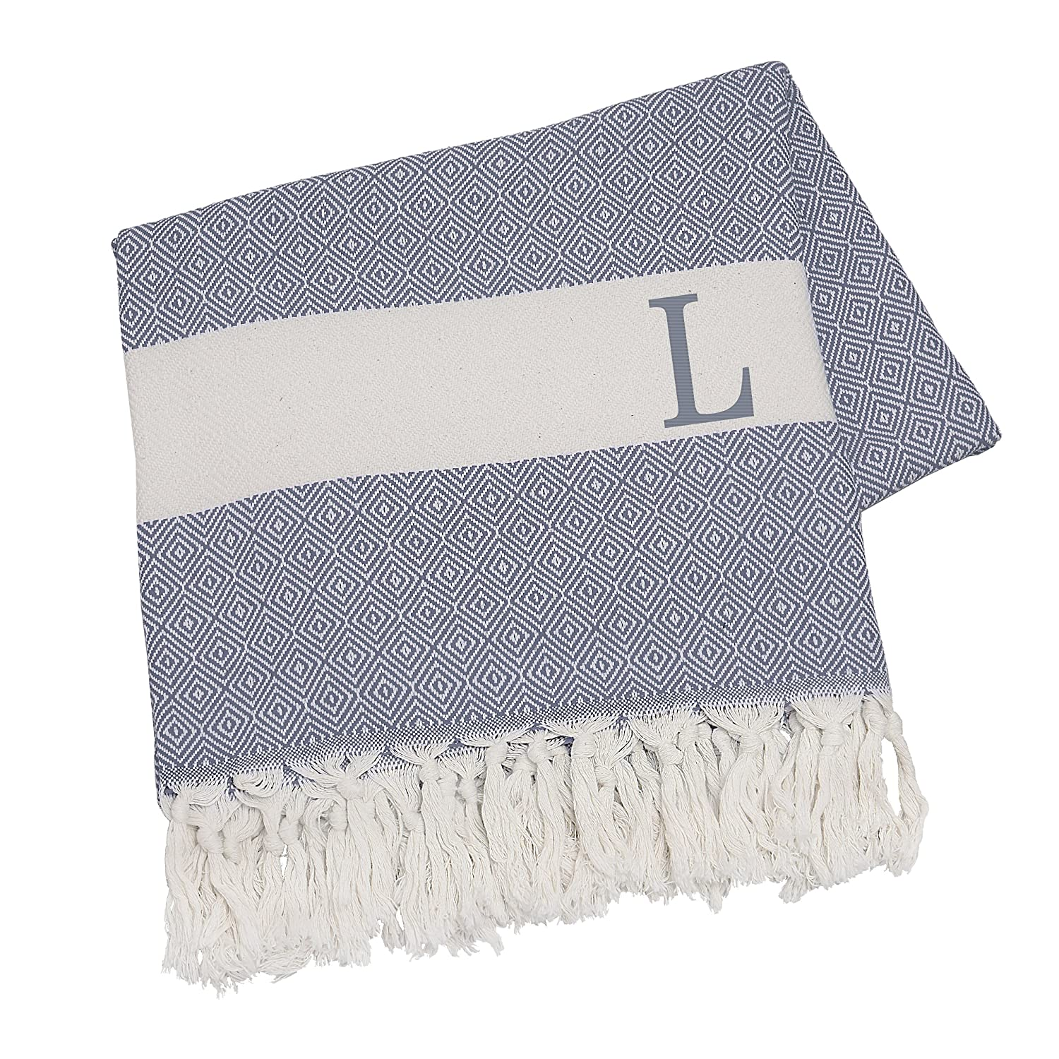 Beige Cathy/'s Concepts 1420BE-B Cathys Concepts Personalized Turkish Throw Letter B