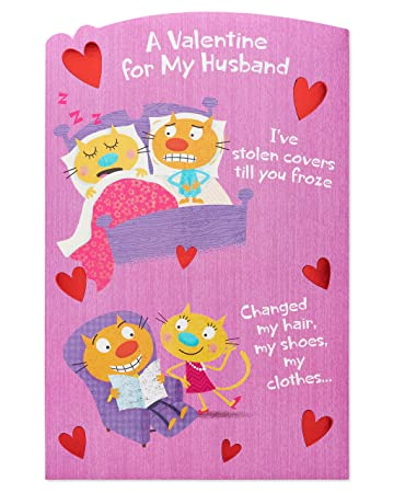 Amazon american greetings funny valentines day card for american greetings funny valentines day card for husband with foil m4hsunfo Gallery