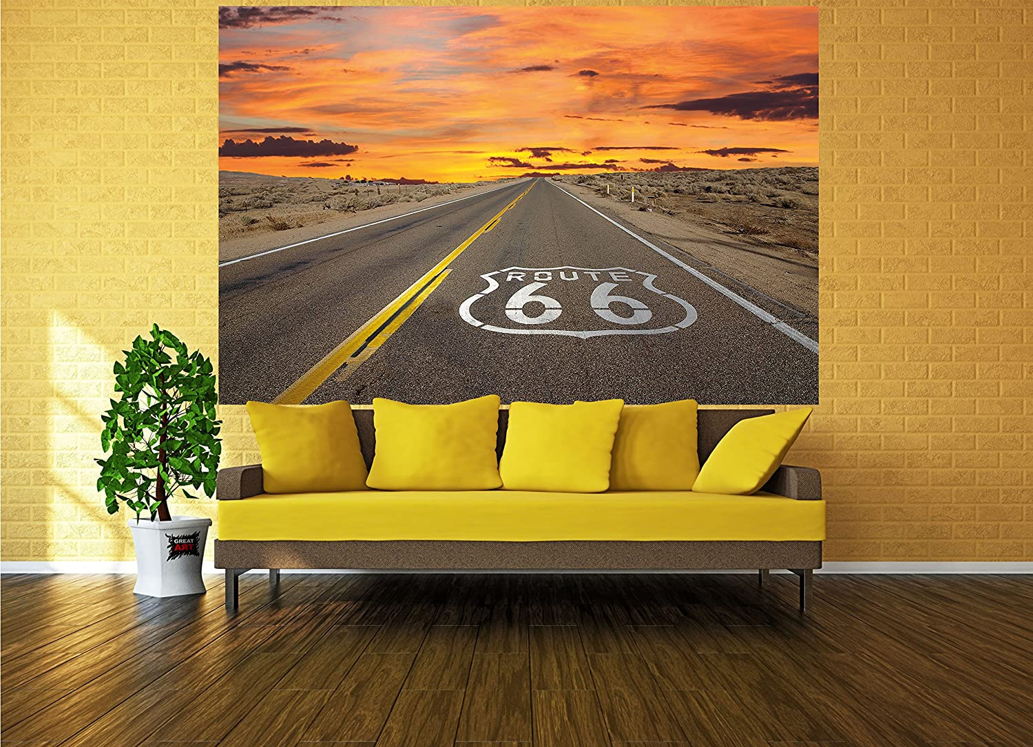 Route 66 picture wallpaper - American highway wallpaper - poster XXL ...