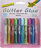 Max Bringmann 574 - Glitter Glue, 10 x 9,5 ml, in 10 Farben