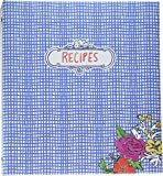 """C.R. Gibson 3-Ring Binder, Holds 40 Recipe Cards 4"""" x 6"""", Book Measures 9"""" x 9.5"""", Flourish"""