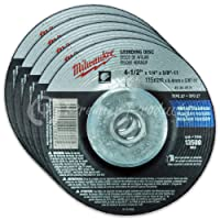 "Milwaukee 5 Pack - 4 1 2 Hubbed Grinding Wheel For Grinders - Aggressive Grinding For Metal & Stainless Steel - 4-1/2"" x 1/4 x 5/8-Inch 