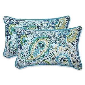 Pillow Perfect Outdoor | Indoor Gilford Baltic Rectangular Throw Pillow, 2 Piece
