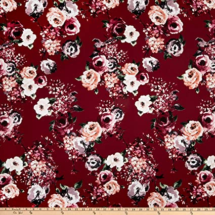 f36a00bcab2 Image Unavailable. Image not available for. Color  Fabric Rayon Challis  Floral ...