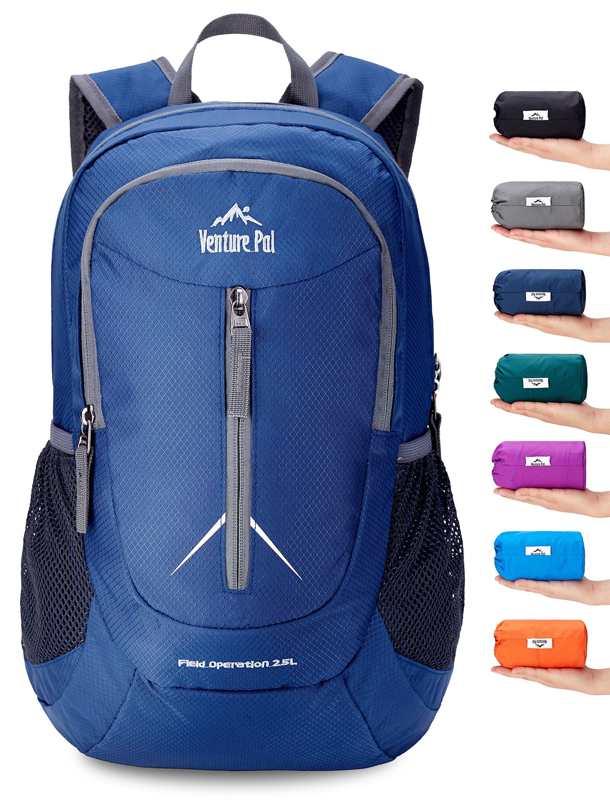Venture Pal 25L - Durable Packable Lightweight Travel Hiking Backpack Daypack Small Bag for Men Women Kids (Navy)
