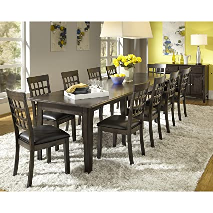 Amazoncom Simply Solid Corina Solid Wood 14 Piece Dining