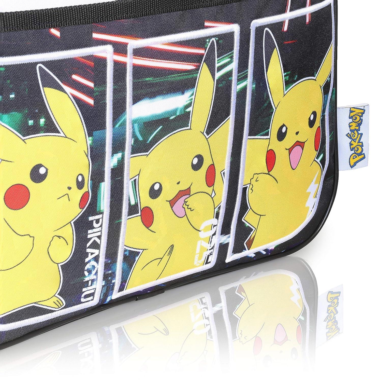 Back to School Black School Bags For Boys Pokemon School Bag Pikachu Messenger Bag Courier Kids Book Bag Crossbody Shoulder Bag Official Merchandise