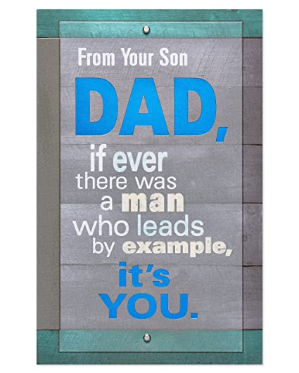Amazon American Greetings Role Model Birthday Card For Dad