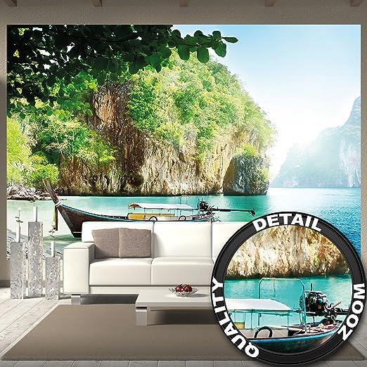 3 opinioni per Spiaggia con barca FOTOMURALE- Barca in una baia tappezzeria da parete paradiso