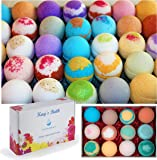 Bath Bomb Fizzies Gift Set Box - 12 Pack - Individually Wrapped Assorted Scents - Natural Ingredients - Shea & Mango Butter, Essential and Fragrance Oils for Moisturizing Dry Skin - Lush Bath Salts