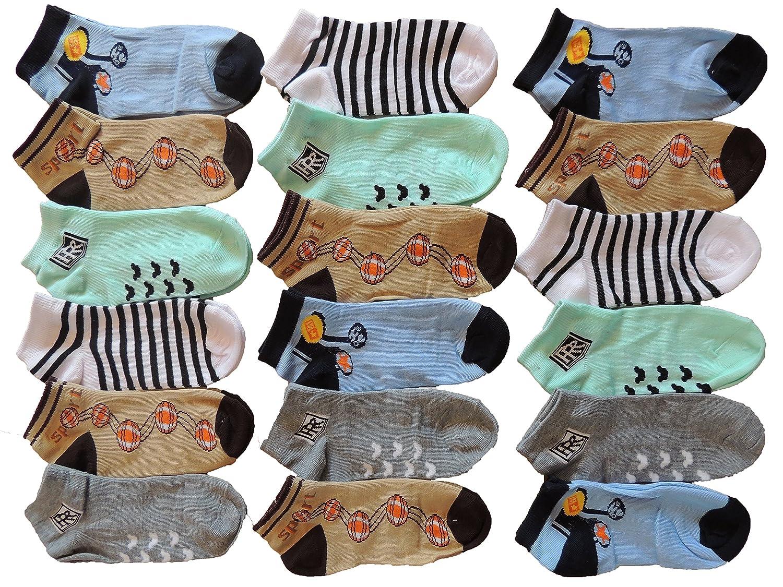 10 Stück Jungen Sneaker Socken Größe 23-34 MXHC 9