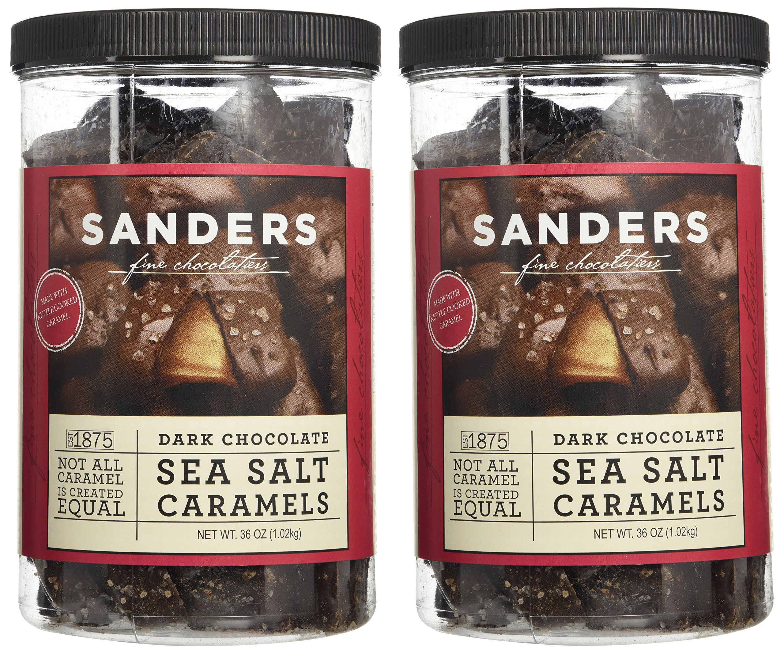 Sanders Dark Chocolate Sea Salt Caramels - 36 Oz (Value 2 Pack) by Sanders (Image #1)