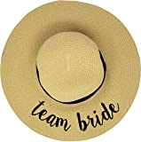 H-2017-TB Bridal Embroidered Sun Hat - Team Bride