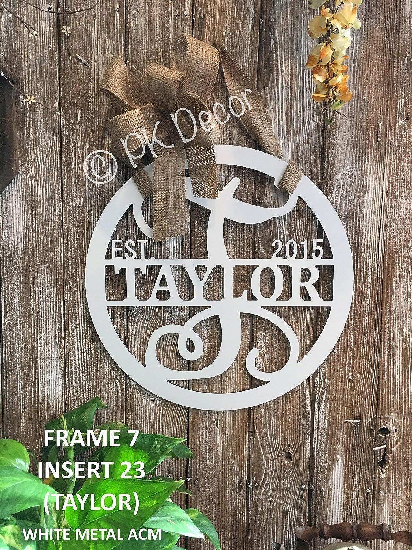 Personalized Last Name Door Hanger-18