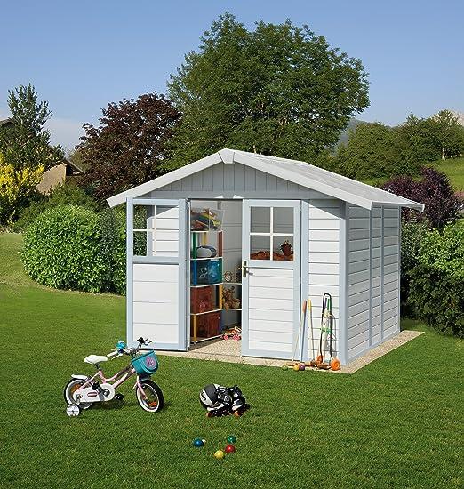 Ondis24 Caseta de jardín, 2, 42 x 2, 02 m, cobertizo de plástico y ...