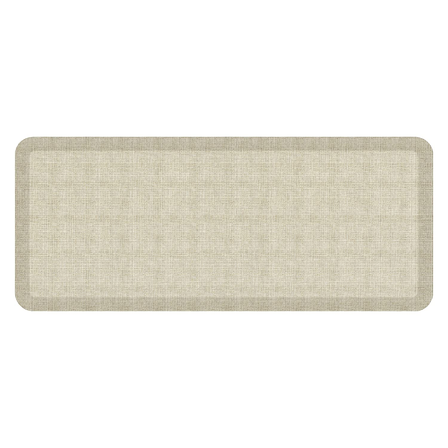Tweed Antique White 20  x 48  NewLife by GelPro Designer Comfort Mat, 20 by 72-Inch, Lattice Mineral Grey