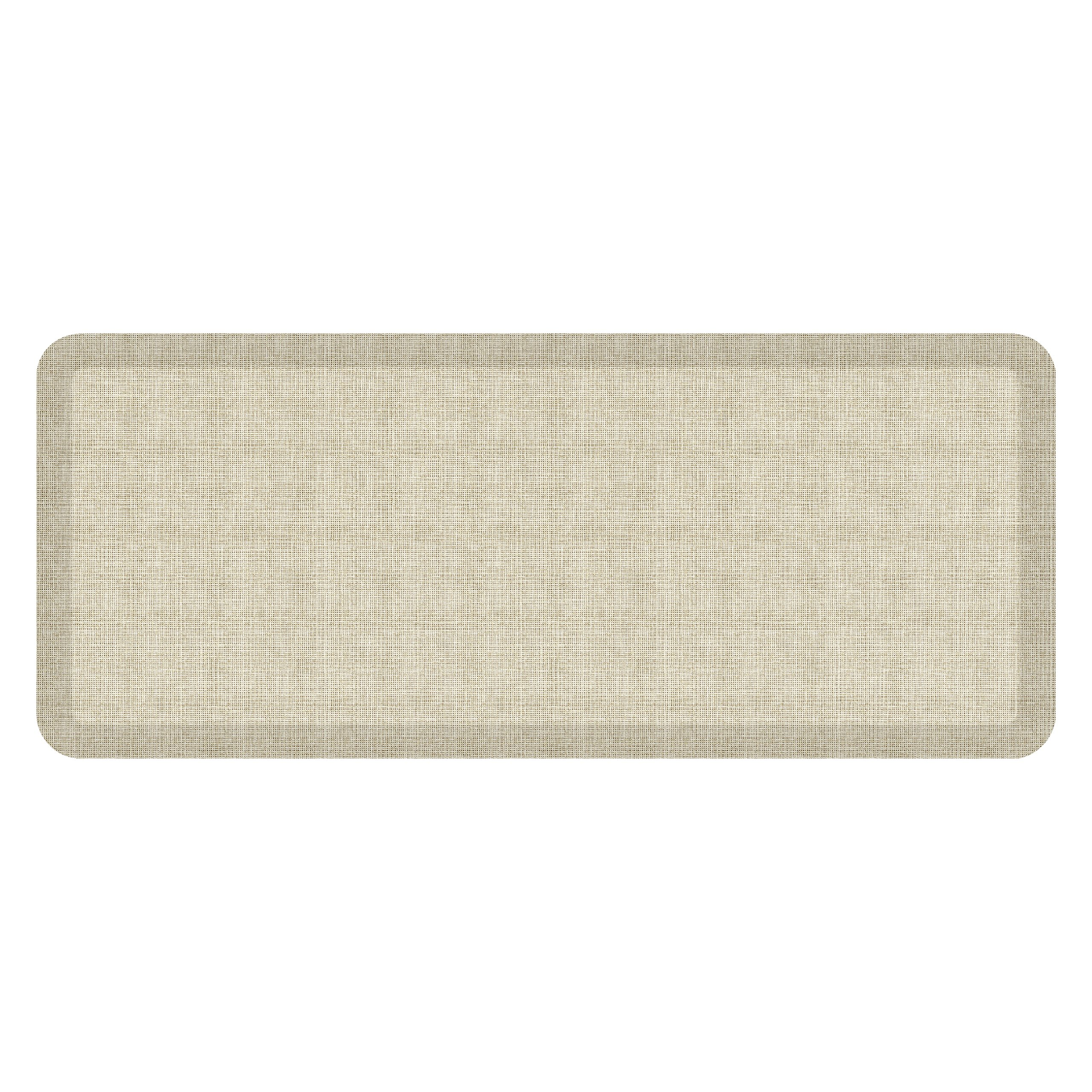 """NewLife by GelPro Anti-Fatigue Designer Comfort Kitchen Floor Mat, 20x48'', Tweed Antique White Stain Resistant Surface with 3/4"""" Thick Ergo-foam Core for Health and Wellness"""