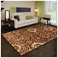 Superior Designer Augusta Collection Area Rug - Modern Area Rug, 8 mm Pile, Scalloped Floral Design with Jute Backing