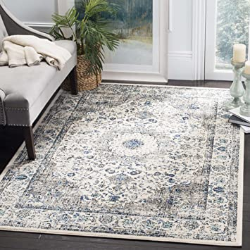 Safavieh Evoke Collection EVK220D Vintage Oriental Grey And Ivory Area Rug 67quot