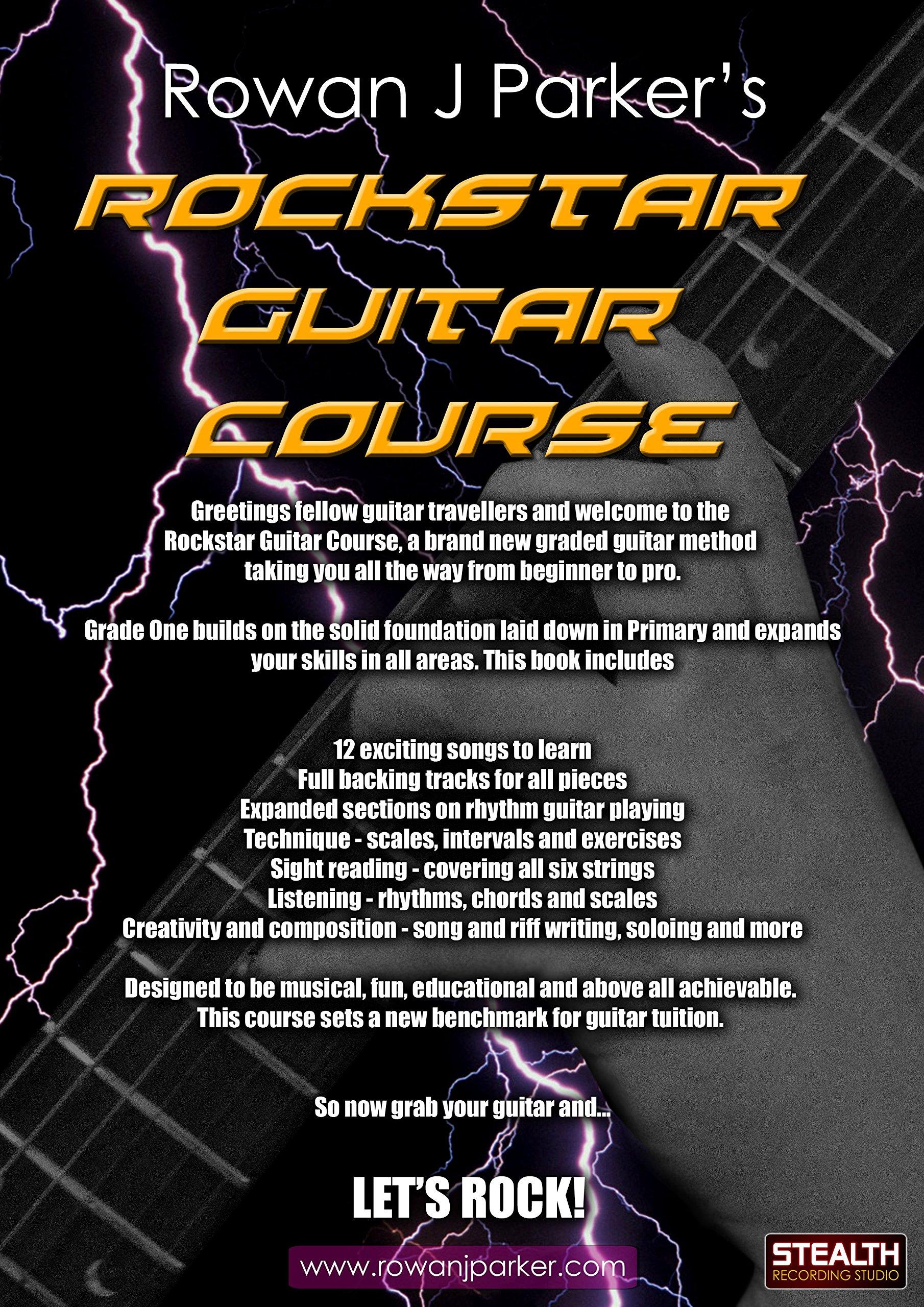 Rockstar Guitar Course Grade One Amazon Rowan J Parker