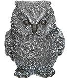 Steinfigur Eule klein - Schiefergrau, Deko, Figur, Garten, Frostsicher