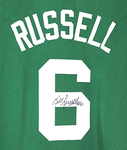 Image Unavailable. Image not available for. Color  Bill Russell Boston  Celtics Signed Autographed Custom Green  6 ... aa9770175